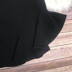 Anthropologie Skirts - Leifsdottir black Faray fluted Ruffle Hem Skirt